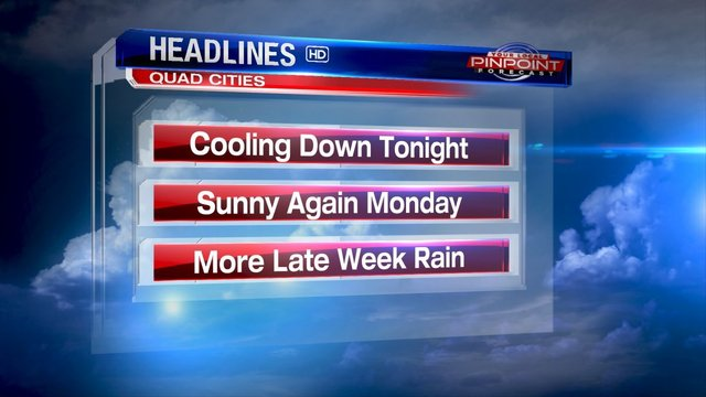 More sunshine in the Monday forecast