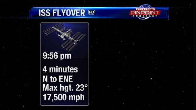 International Space Station visible later tonight in the Quad Cities