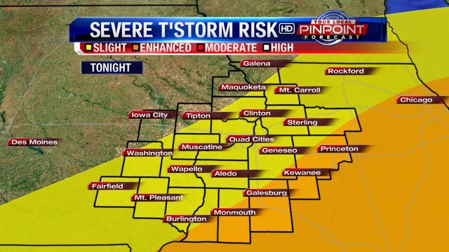 Strong to Severe Storms Possible in Chicago Area