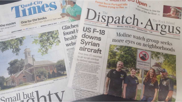 Quad-City Times owner purchasing Dispatch-Rock Island Argus
