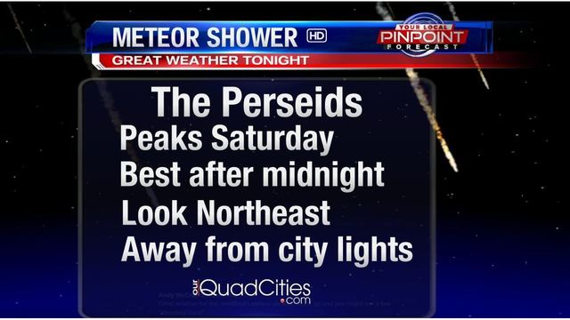 Perseid meteor shower peaks August 12