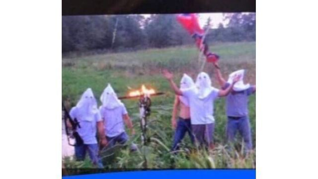 Iowa Students Disciplined For Posting Photo Wearing KKK Hoods With Burning Cross