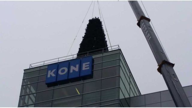 Christmas tree tops Kone Centre