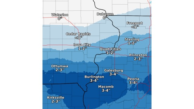 Snow tonight south and Sunday north