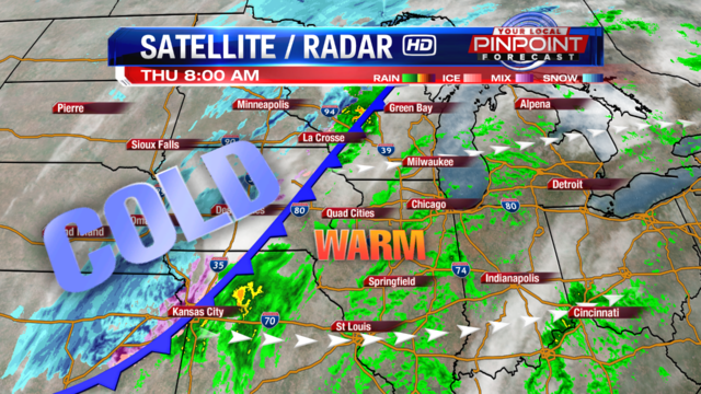 Rapidly falling temperatures bring ice potential Thursday