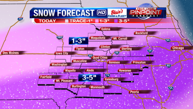 Another round of snow could surprise many Tuesday night
