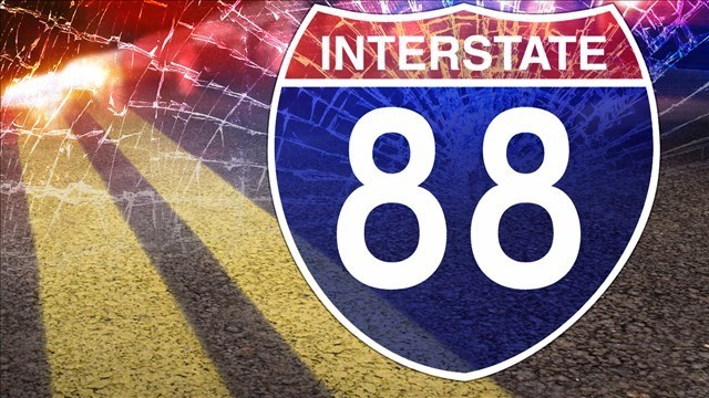 Traffic alert: Westbound I-88 closed by semi crash