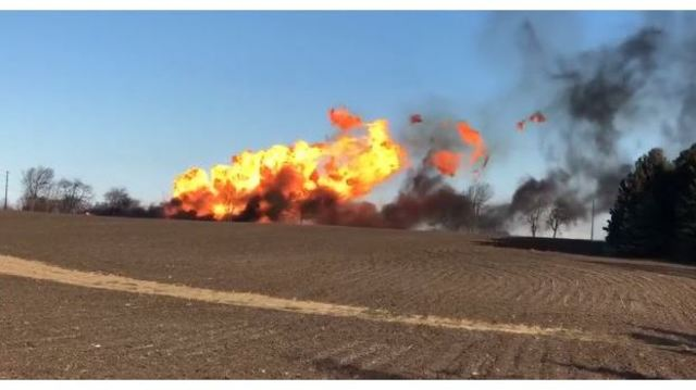 2 dead, 2 injured in explosion after tractor hits gas line