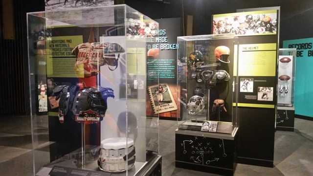 Pro Football Hall of Fame traveling exhibit is in QC for Super Bowl weekend