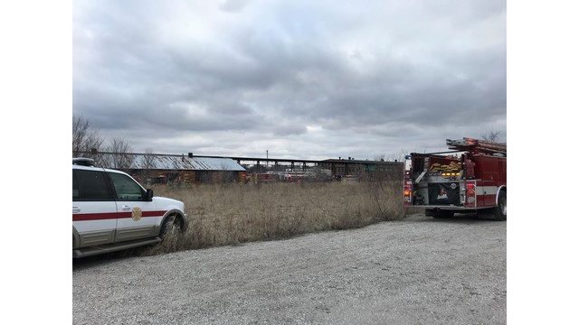 Structure fire at Silvis railyard