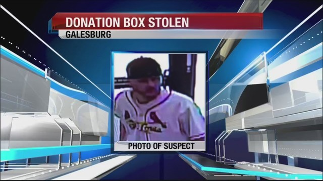 Police looking for man after donation box stolen