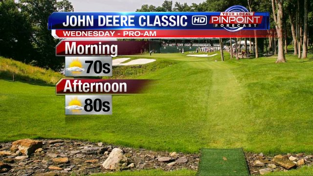 Sunny and warm for John Deere Classic Pro-Am