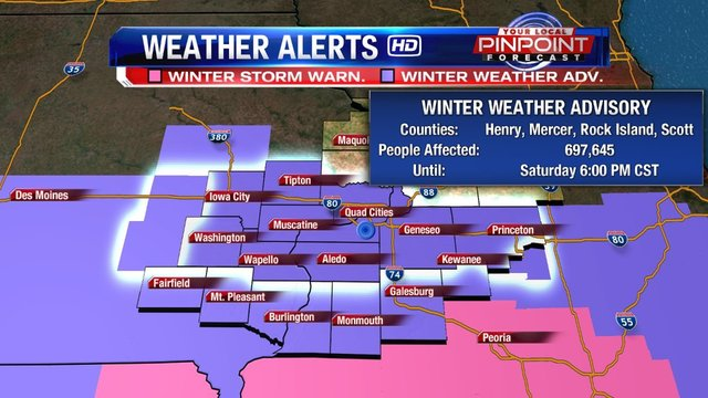 Storm track shifts, heavier snow likely in Quad Cities