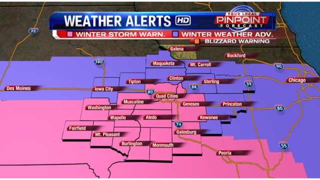 Parts of QCA upgraded to Winter Storm Warning