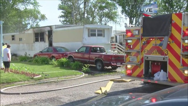 One person taken to the hospital after mobile home fire